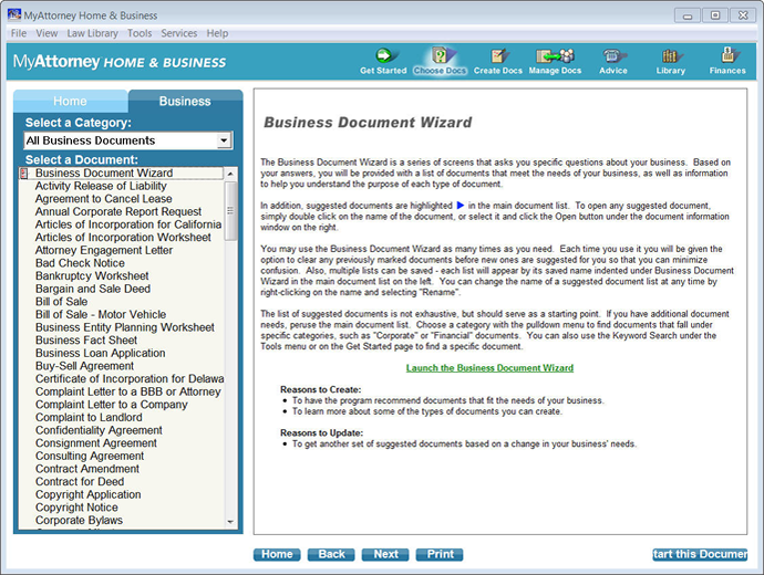MyAttorney Home Business Attorney Software - Legal document software