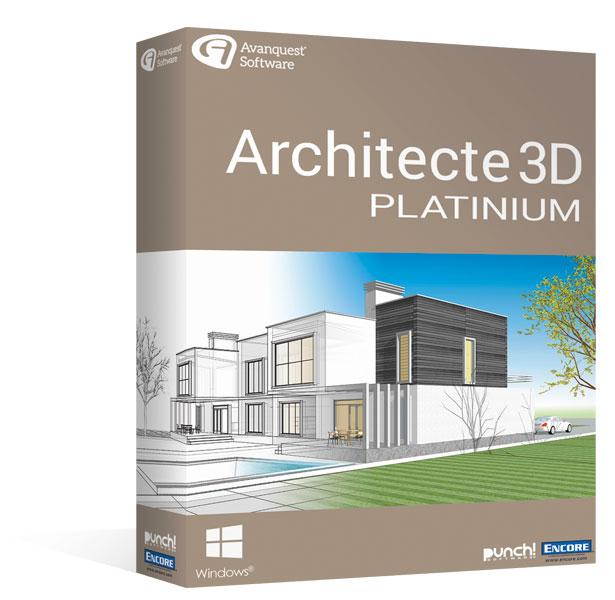 Architecte 3d platinium 20 le logiciel ultime d for Architecte 3d express